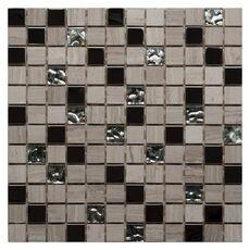 Мозаика камень со стеклом Linen Wood